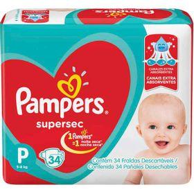 FRALDA-PAMPERS-SUPERSEC--P--34UN