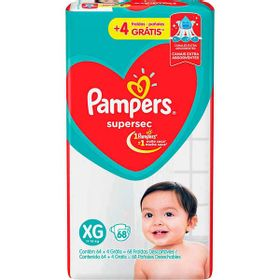 FRALDA-PAMPERS-SUPERSEC--XG-68UN