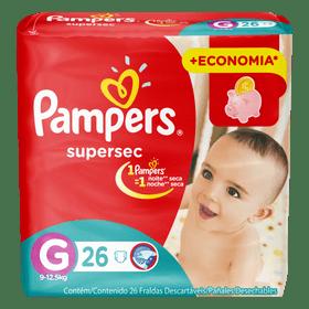 FRALDA-PAMPERS-SUPERSEC--G--26UN