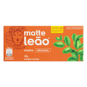 CHA-LEAO-MATTE-NATURAL-25-SAQUINHOS-16G